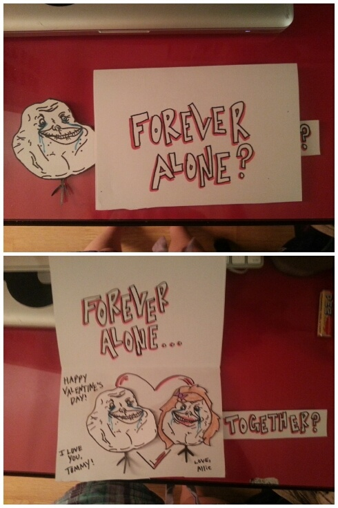 forever alone valentine's day card
