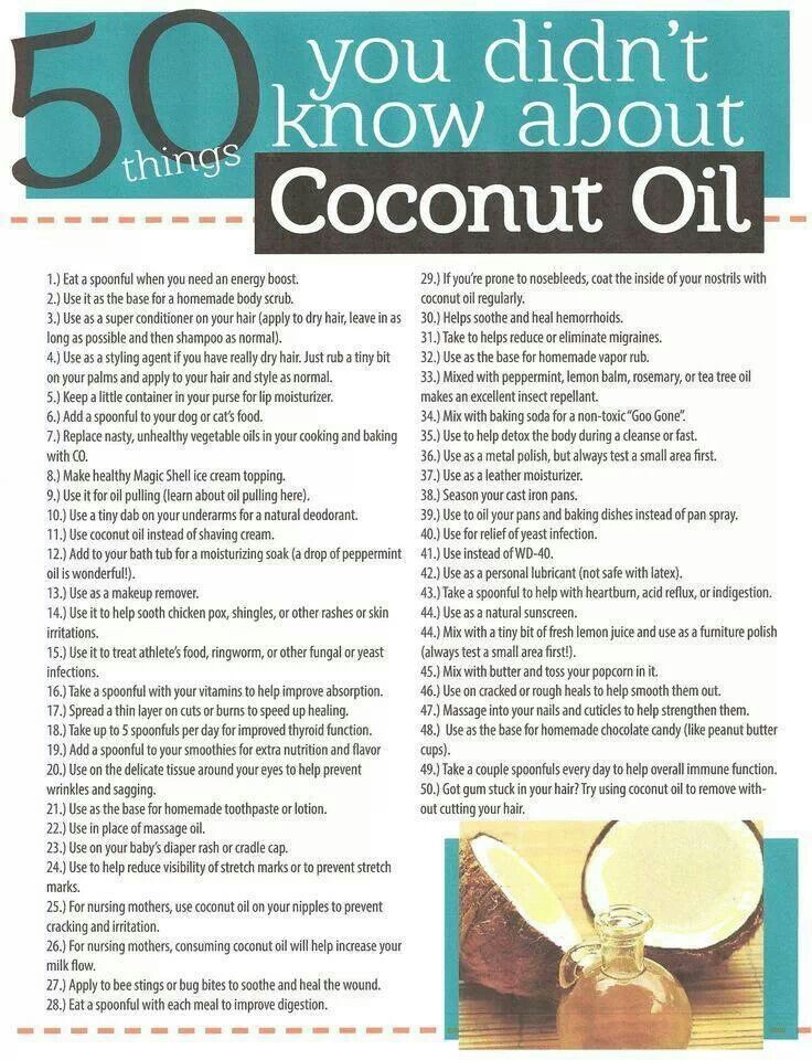 Uses for coconut oil | Healthy Living--Coconut Oil