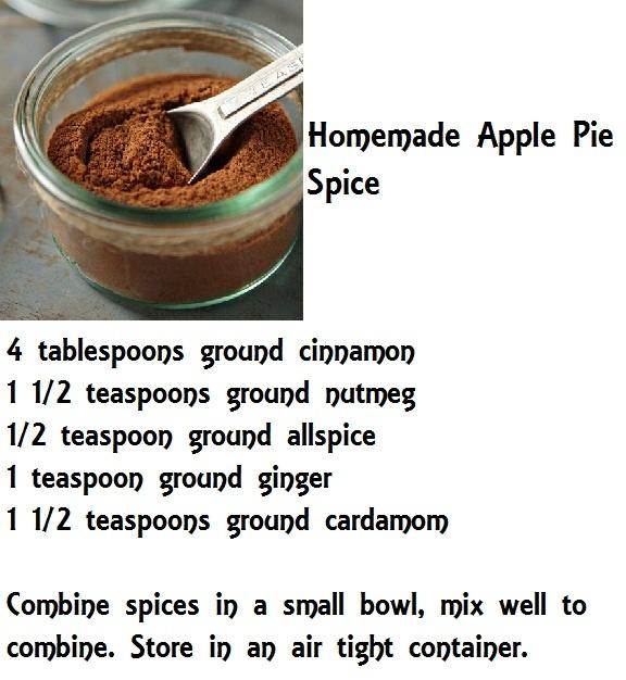 Homemade Apple Pie Spice Recipe | Dips & Dressings ect. | Pinterest