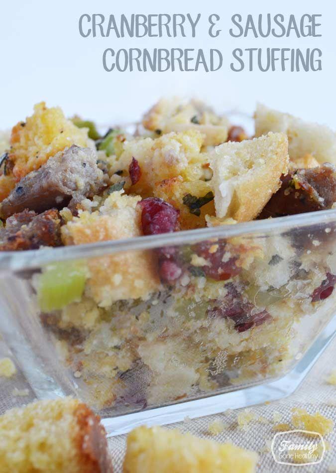 Sausage, Cranberry, And Corn Bread Stuffing Recipe — Dishmaps