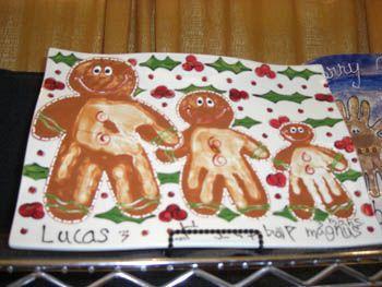 Gingerbread men hand art