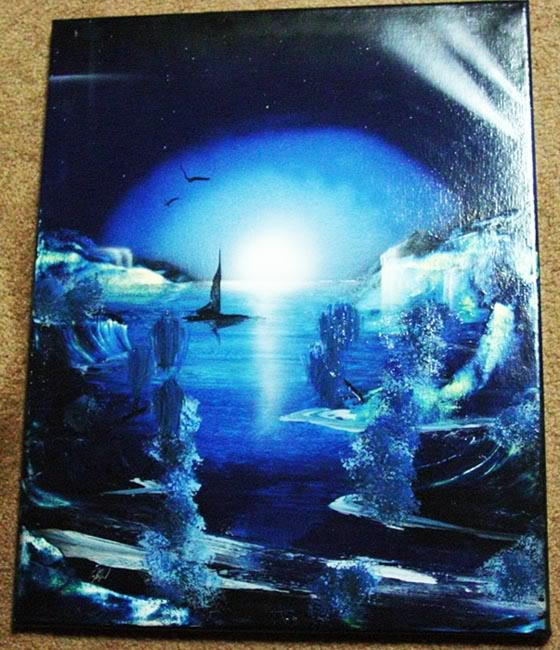 Joshua Moonshine 39 S Spray Paint Art Blue Pinterest