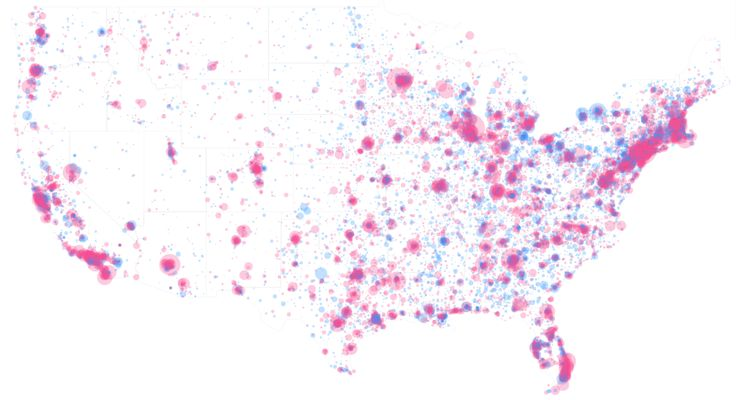 Mike Tahani maps federal campaign contributions by zipcode and gender