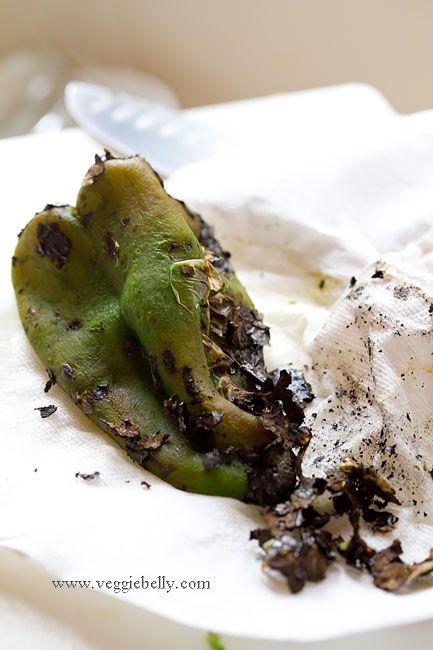 roasted poblano pepper and corn salsa - also a recipe for black bean ...
