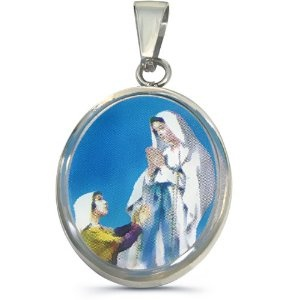 316L Stainless Steel Religious Pendant - Mary (Jewelry)