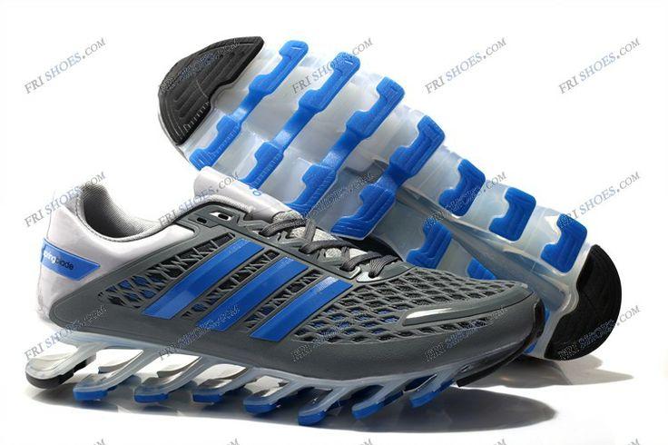 Adidas 2014 Springblade II Grey Blue Men's Running shoes Store