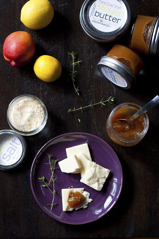 Nectarine Meyer Lemon Butter | Nibbles and Sips | Pinterest
