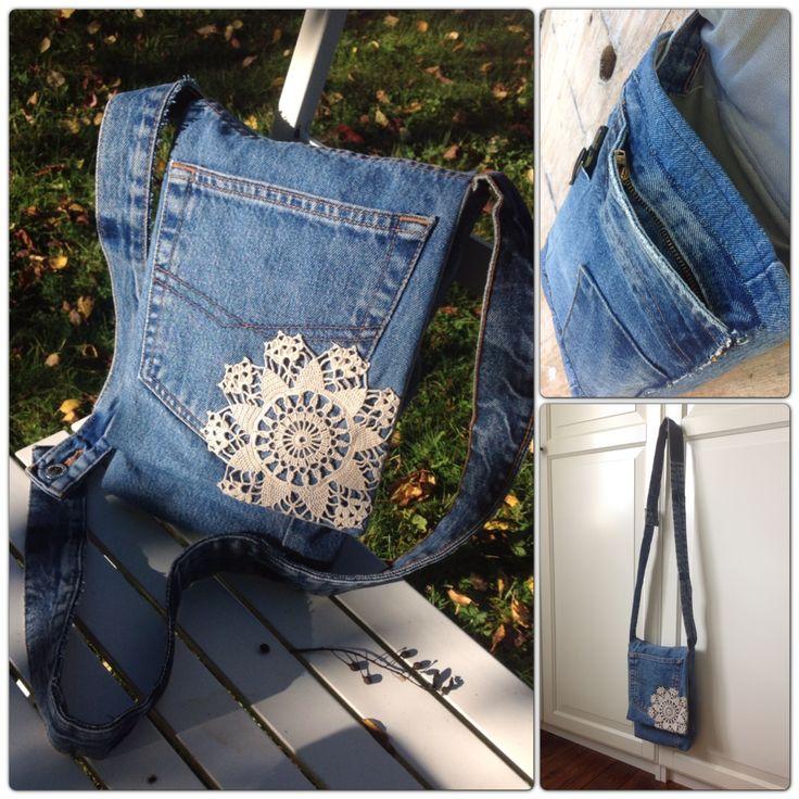 DIY denim bag from old...