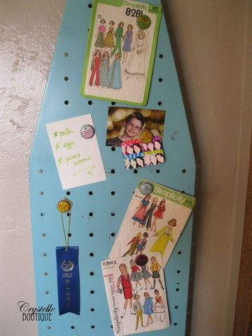Another repurposed ironing board