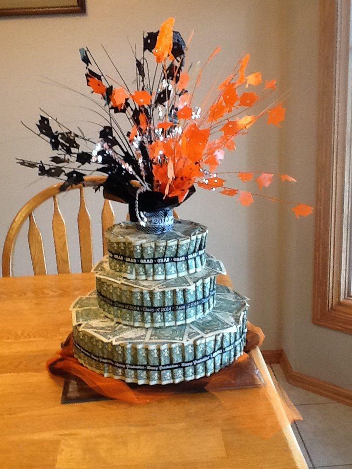 Graduation money cake style wedding pinterest - Money cake decorations ...