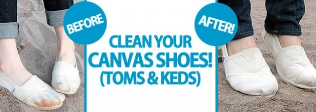 Clean Your Canvas Shoes! (Toms & Keds) ‹ Clean My Space | Blog {I think I'm going to love this blog...}