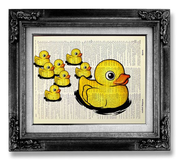 Rubber Duck, Bathroom Decor Accessory, Baby Shower Decoration  | W…