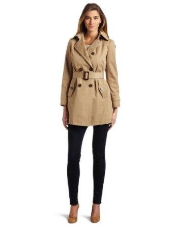 Klein Petite Coat, Hooded Belted Trench - Coats - Women - Macy s