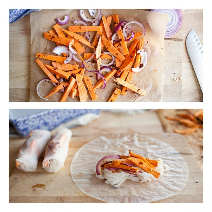 Sweet Chili) Roasted Sweet Potato Spring Rolls | Recipe