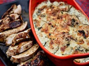 Ancho-Rubbed Turkey Breast With Cilantro-Habanero Potato Gratin ...