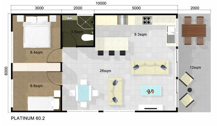 guest house floor plan 2 bedroom guest house