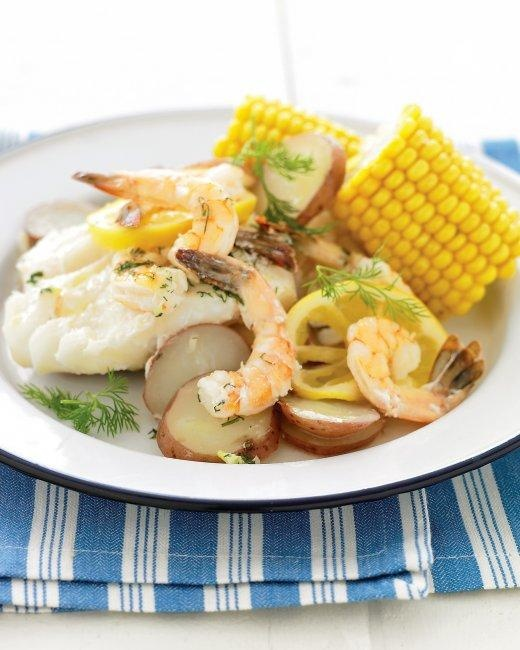"Grilled New England Seafood ""Bake"" 