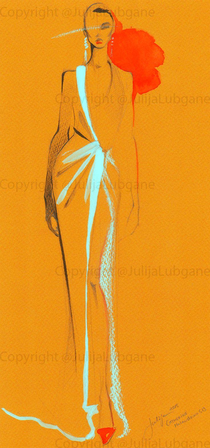Fashion sketches colored pencils 88