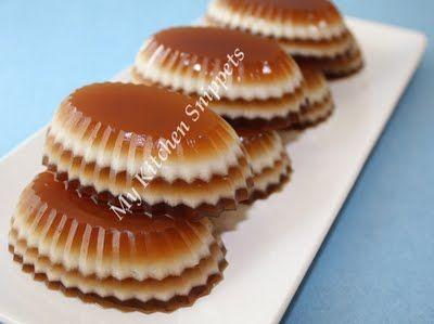"Coffee and Coconut layered jellies. (vegan ""jell-o"" using agar agar..."