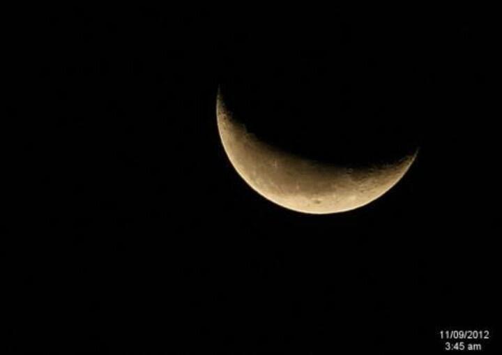 crescent moon | Moon Phases | Pinterest