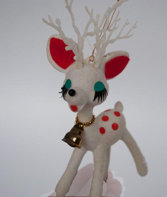 vintage reindeer ornament