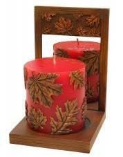 Big Sky Carvers Mirrored Shelf with Sculpted Candle Gift boxed.   $16.99