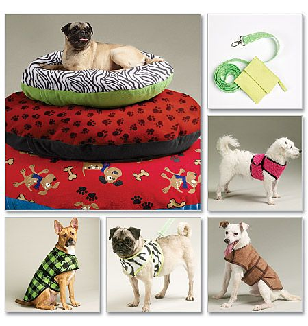 Sewing Pattern for Dog Bed In 3 Sizes, Leash, Case, Harness Vest and Coat