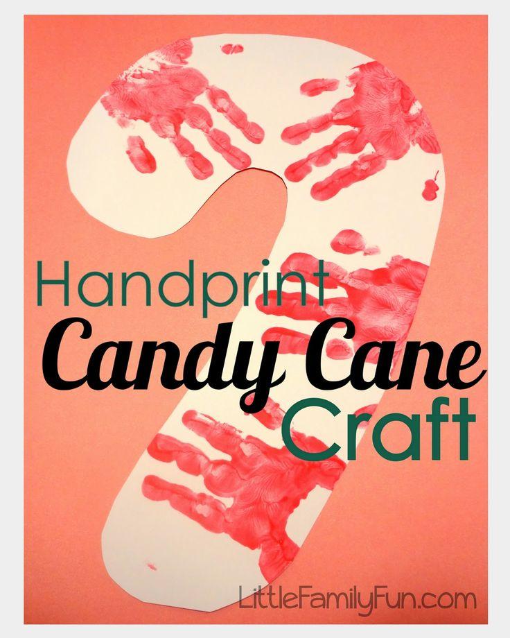 Handprint Candy Cane Craft