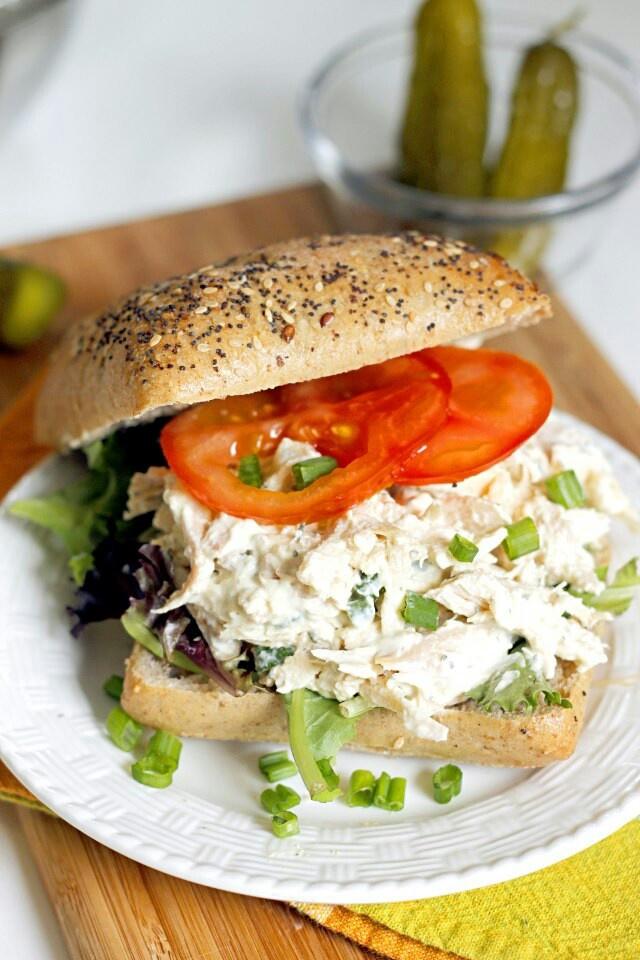 Lighter ranch chicken salad sandwich | CULINARY DELIGHTS | Pinterest