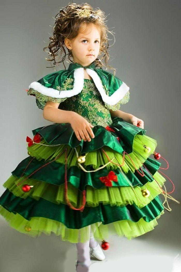 Новогодние костюм елочки своими руками для девочек