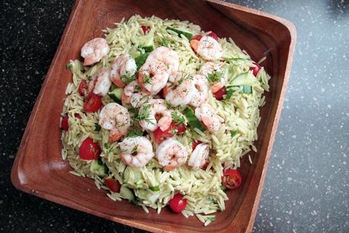 ... Shrimp Salad with Mustard-Dill Vinaigrette- Seriously delicious