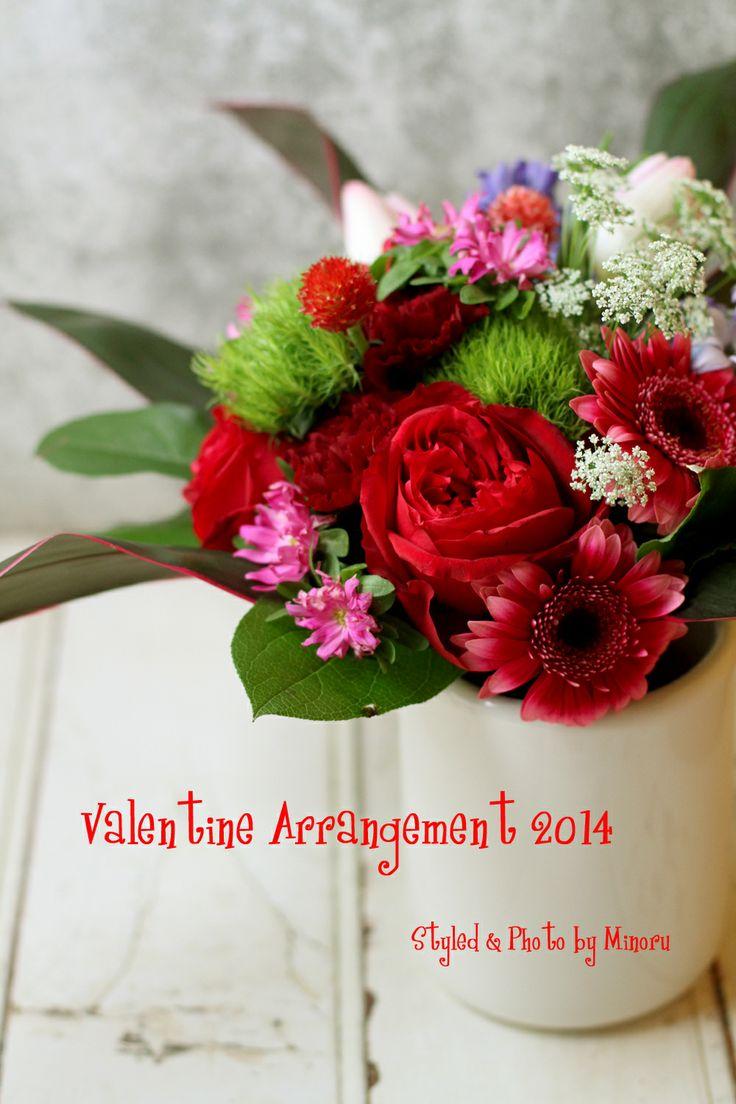 flower arrangements for valentine's day