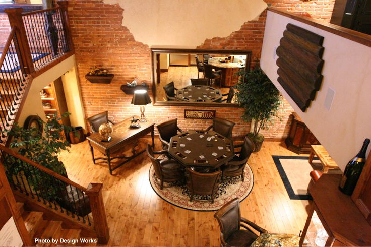 Man Cave With Exposed Brick : Sometimes a living room can be your own man cave this