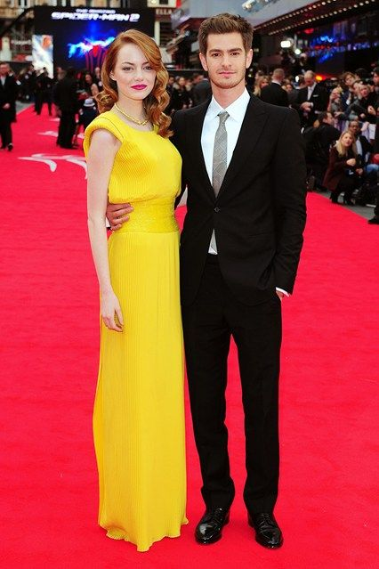 Emma and Andrew at The Amazing Spider-Man 2 premiere, London - April 10 2014