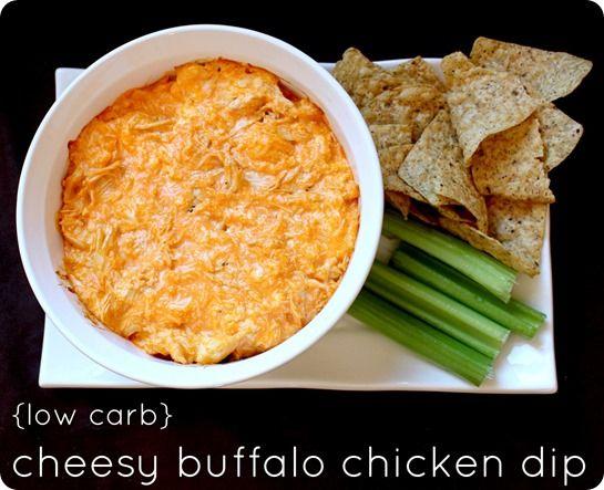 Low Carb Cheesy Buffalo Chicken Dip | Yum yum | Pinterest