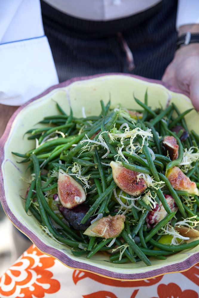 Fall Recipe: Garden Fig Salad with Greens, Corn and Haricots Verts