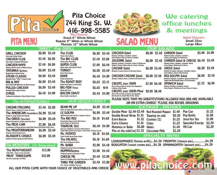 Pita Pit menu | Restaurant Menus of Toronto | Pinterest: pinterest.com/pin/384917099373328779
