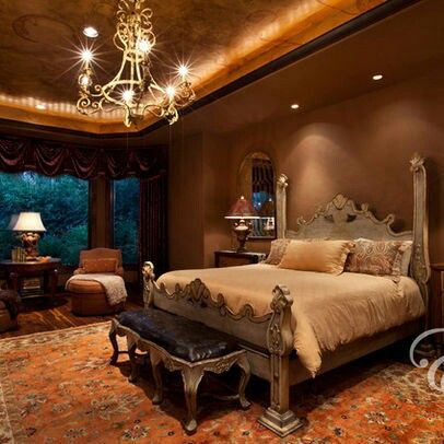 Rich warm and beautiful tuscan bedroom architecture and for Tuscany bedroom designs
