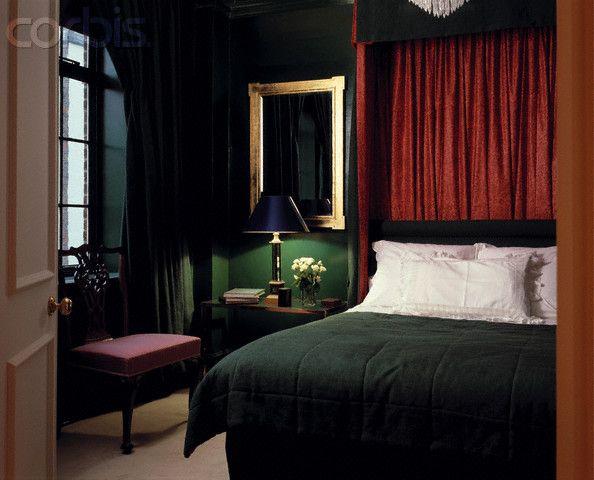 dark green traditional bedroom sexual interior pinterest
