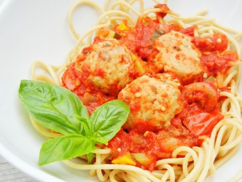 Italian chicken meatballs made with Parmesan cheese, sun dried ...