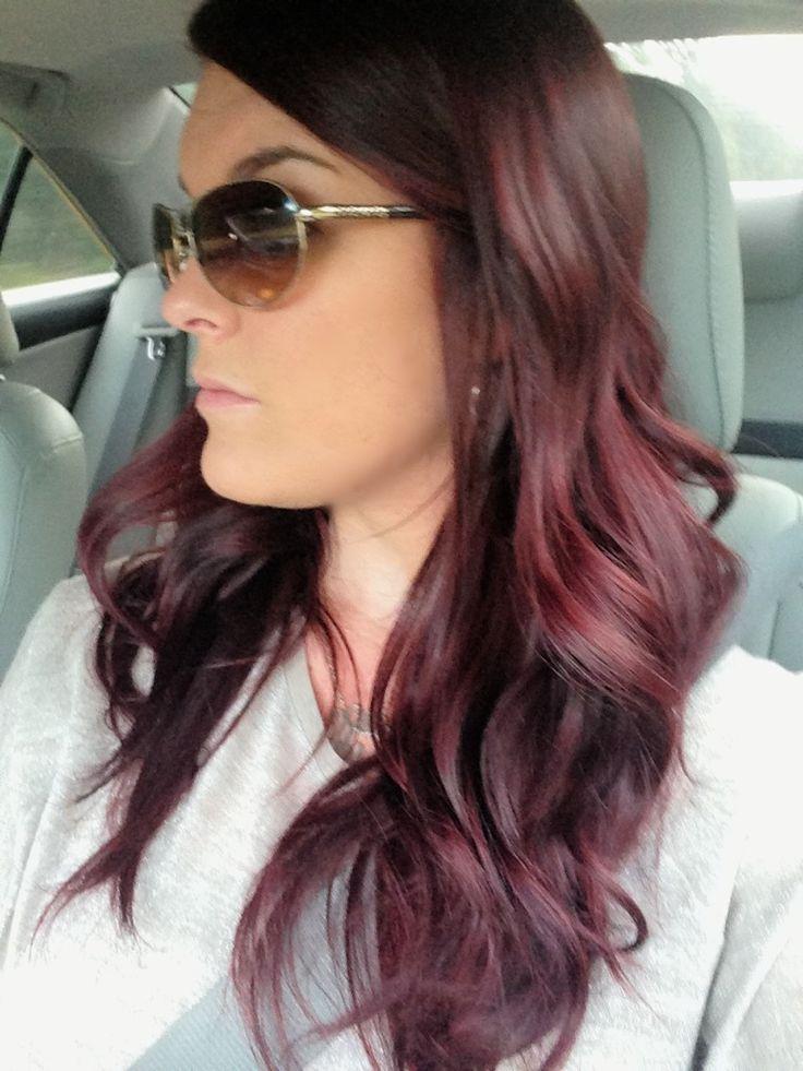 Dark Red Violet Brown Hair Color Hair And Beauty Pinterest Of Dark