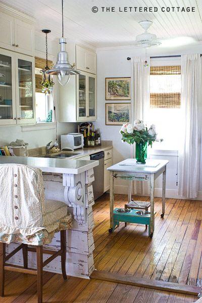 cottage kitchen. Love the flooring.