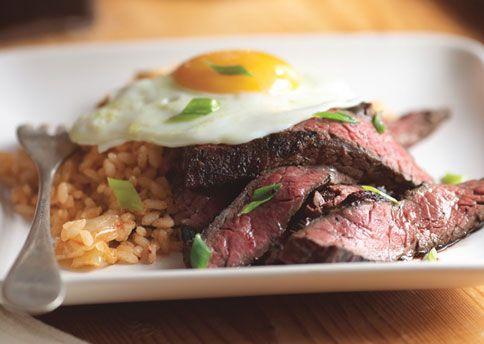 steak and eggs Korean style via Bon Appetit