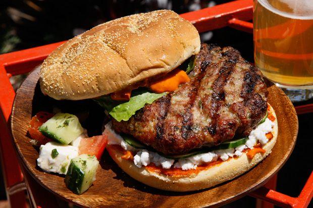 ... . So eat it! I want this burger yesterday! Mediterranean Lamb Burger