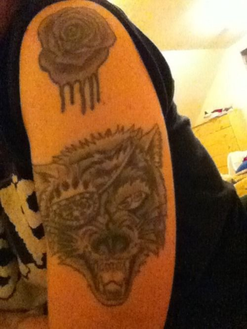 One eye wolf tattoo http 16tattoo com one eye wolf tattoo