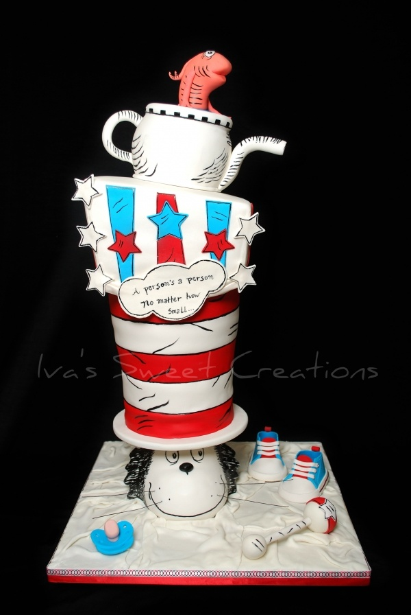 the cat in the hat baby shower cake cakes and cupcakes i love pi