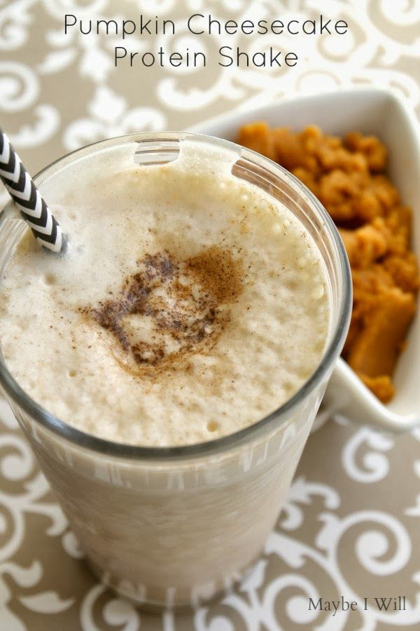 Pumpkin Cheesecake Protein Shake-- taste more like a yummy dessert ...