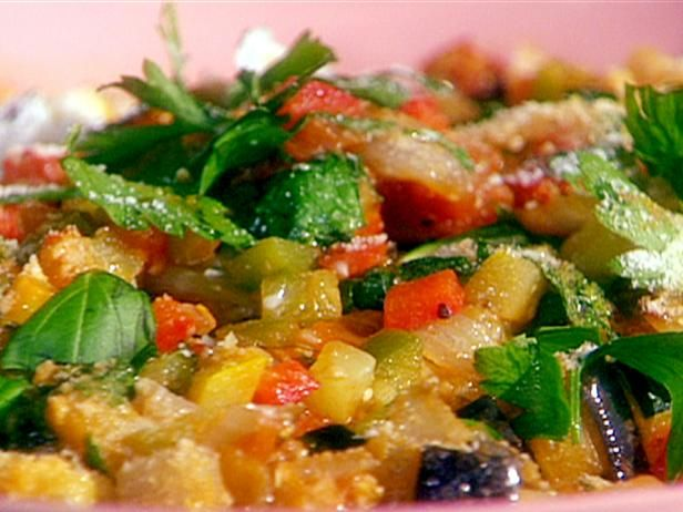 Ratatouille: Olive Oil / Onion / Garlic / Eggplant / thyme / bell ...
