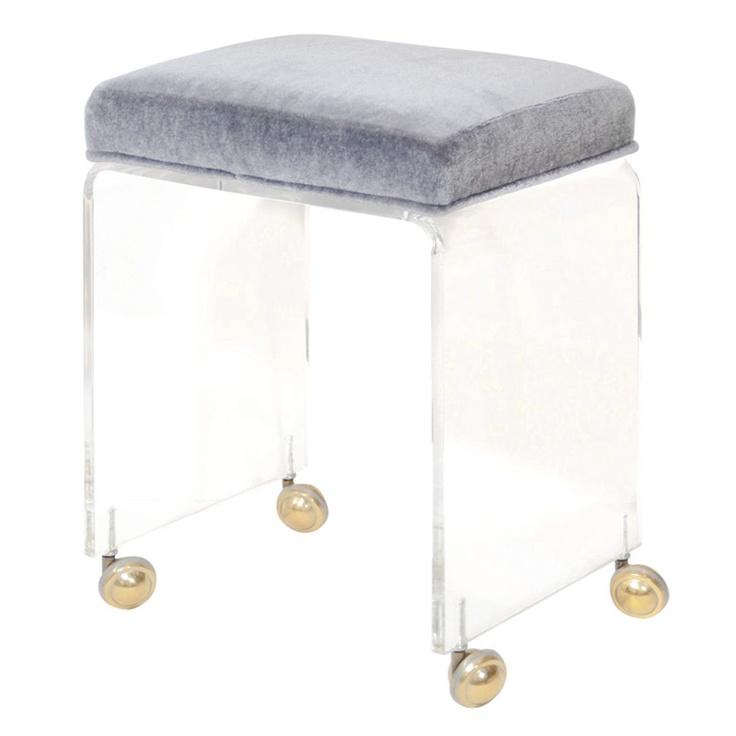 Modernist lucite waterfall vanity stool 1930 39 s glamour pinterest - Acrylic vanity chair ...