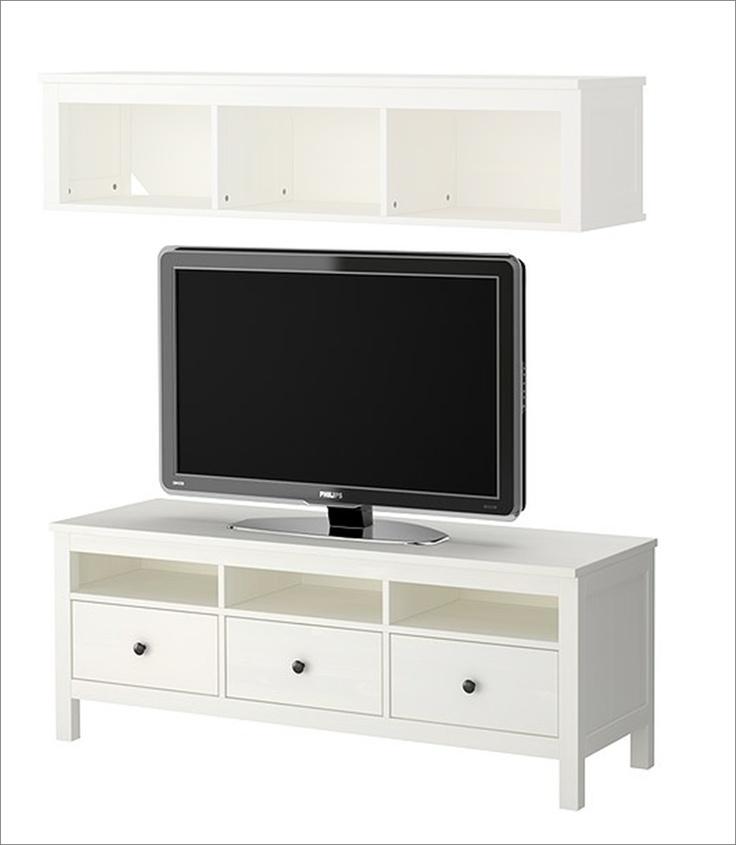 ikea hemnes tv stand and shelf living room